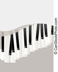 piano keys retro background. abstract design template with space for text