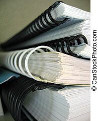 Spiral Bound Books - an isolated stack of Spiral Bound Books...