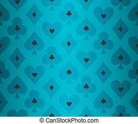 Simple turquoise poker background with transparent effect -...