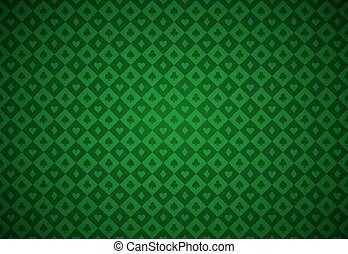 Minimalistic green poker background with texture composed...