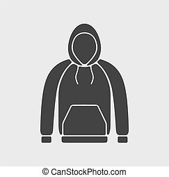 Smock icon on background - Vector illustration of smock icon