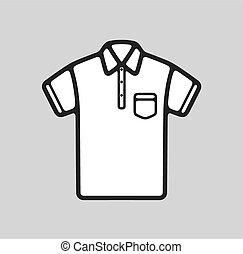 Polo t-shirt icon