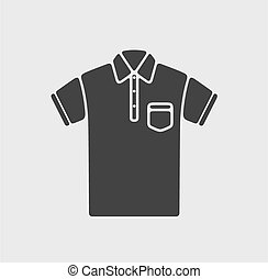 Polo t-shirt icon - Vector illustration of polo t-shirt icon