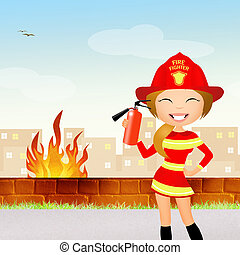 fire danger - illustration of fire danger