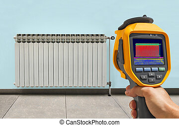 Recording Radiator Heater with Infrared Thermal Camera