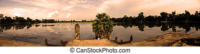 angkor wat - panoramic view of angkor wat
