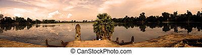 angkor wat - panoramic view of angkor wat