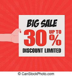 Big Sale - abstract big sale object on a special background
