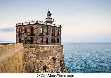 Melilla, Spain - lighthouse in Melilla, Spain