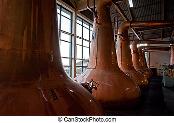 Whisky stills - Islay whisky distillery stills