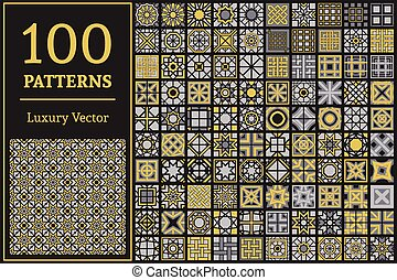 Vector Set of Geometric Patterns - Luxury patterns with...