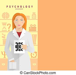 A young girl in psychologist - A young girl in a white coat...