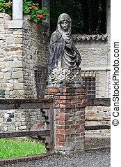 Marble statue Grazzano Visconti Emilia-Romagna Italy