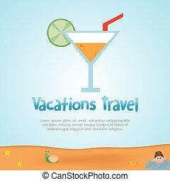 Summer Vacation - abstract summer vacation background with...