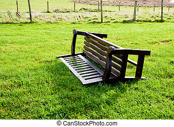 Overturned bench on the isle of Islay