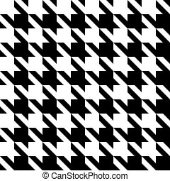 Houndstooth Pattern - Black and white seamless houndstooth...