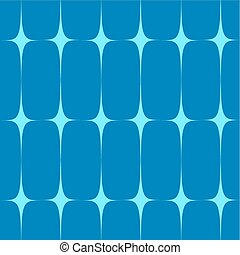Two-tone vector seamless pattern. Blue stylized stars on a...