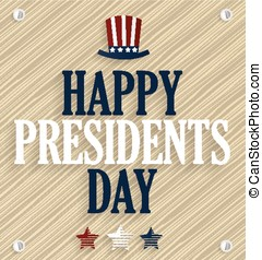 Presidents day poster Wooden background Vector illustration...
