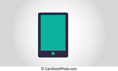Technology icon design, Video Animation HD1080