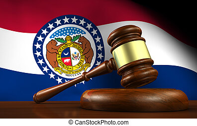 Missouri State Law Legal System Concept - Missouri state...