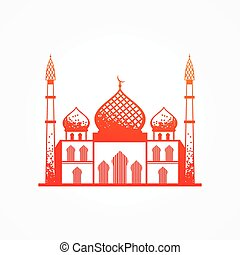 Mosque. - Stylized mosque. Vector illustration