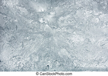 Glacial block of ice closeup. - Glacial block of ice with...
