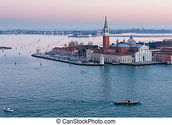 Venice city Italy sunset view - The Island of San Giorgio...