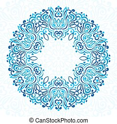 Abstract Ornate Mandala. Decorative frame for design.