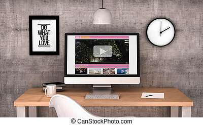 workspace computer video streaming