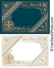 Retro Frame Template. Baroque Style