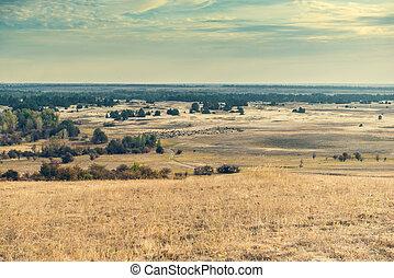 scenic view of Kharkov desert in Ukraine - scenic view of...
