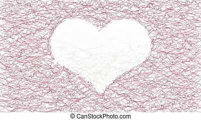 Heart symbol graphical animation - Abstract animated wavy...
