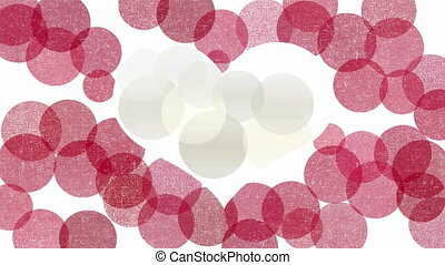 Heart symbol abstract animation - White heart symbol on red...