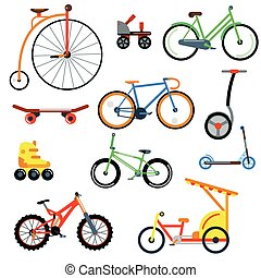 Bicycle flat style isolated on white background vector...