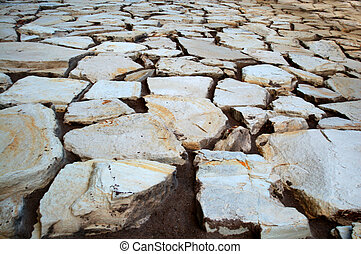 earth surface cracks - cracks on the earth surface after...