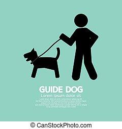 Guide Dog. - Guide Dog Graphic Symbol Vector Illustration.