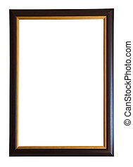 Modern picture frame, isolated with clipping path
