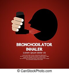 Bronchodilator Inhaler. - Asthma Patient Using...