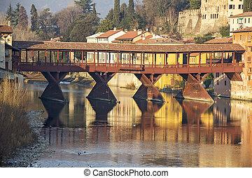 The Ponte Vecchio in Bassano del Grappa - Famous old wooden...