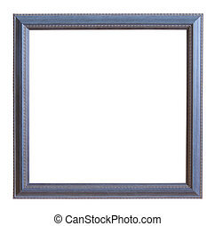 grey picture frame - Modern grey picture frame, isolated...