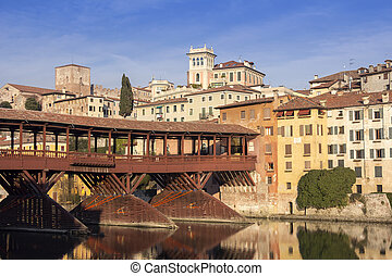 The Ponte Vecchio in Bassano del Grappa - Famous old wooden...