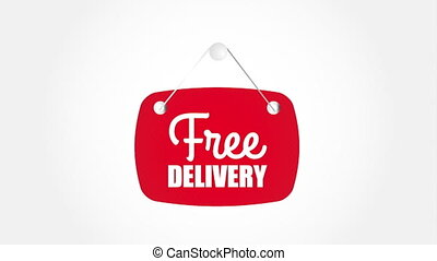 Free delivery design, Video Animation HD1080