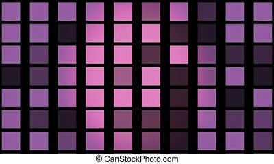 Flashing squares in purple color