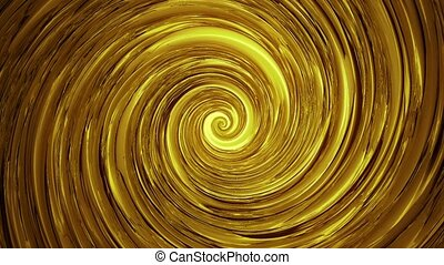 Rotating plate spiral in golden