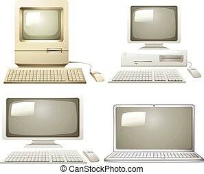 Different generation of personal computer