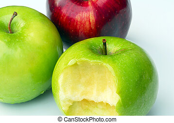 Apple Fruit for health - An isolated shot of red and green...