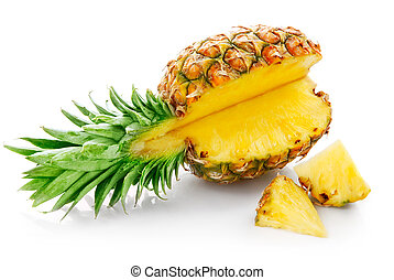 fresh pineapple with cut