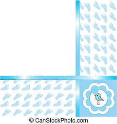 Baby boy arrival card  - Cute Baby boy arrival card