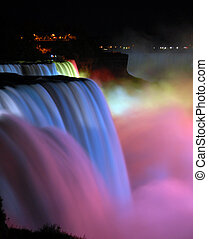 Niagara Falls Nightview - scenic night view Niagara Falls in...