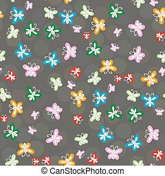 Seamless pattern of colorful butterflies Seamless pattern...
